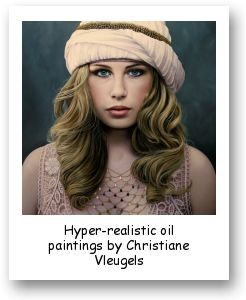 Hyper-realistic oil paintings by Christiane Vleugels