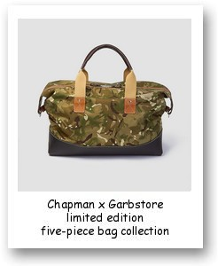 Chapman x Garbstore limited edition five-piece bag collection