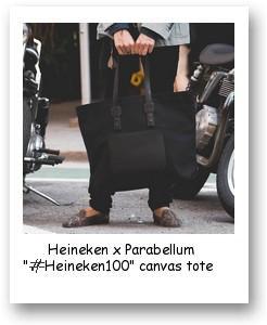 """Heineken x Parabellum """"#Heineken100"""" canvas tote"""