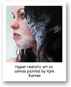 Hyper realistic art on canvas painted by Kyle Barnes