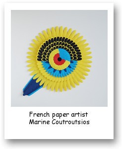 French paper artist Marine Coutroutsios
