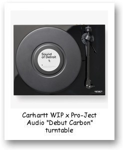 "Carhartt WIP x Pro-Ject Audio ""Debut Carbon"" turntable"