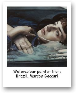 Watercolour painter from Brazil, Marcos Beccari