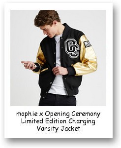 mophie x Opening Ceremony Limited Edition Charging Varsity Jacket