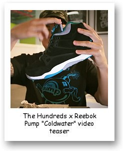 "The Hundreds x Reebok Pump ""Coldwater"" video teaser"