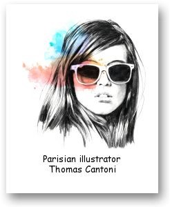 Parisian illustrator Thomas Cantoni