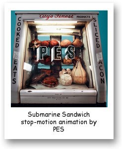 Submarine Sandwich stop-motion animation by PES