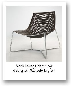 York lounge chair by designer Marcelo Ligieri