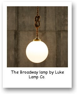 The Broadway lamp by Luke Lamp Co.