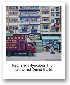 Realistic cityscapes from UK artist David Earle