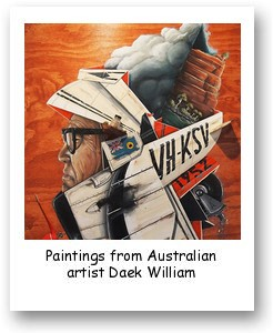 Paintings from Australian artist Daek William