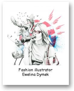 Fashion illustrator Ewelina Dymek