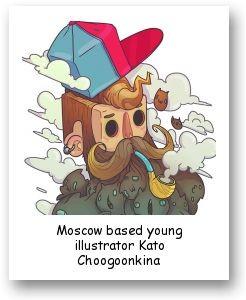 Moscow based young illustrator Kato Choogoonkina