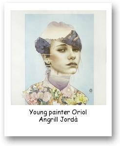 Young painter Oriol Angrill Jordà