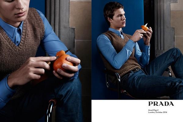 Coup d œil sur la campagne Printemps Été 2015 de Prada, mettant en vedette  les acteurs Ansel Elgort, Milers Teller, Jack O Connell et Ethan Hawk, ... fcf25e12c040