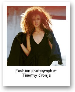 Fashion photographer Timothy Cronje
