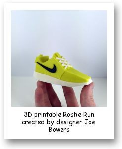 3D printable Roshe Run created by designer Joe Bowers