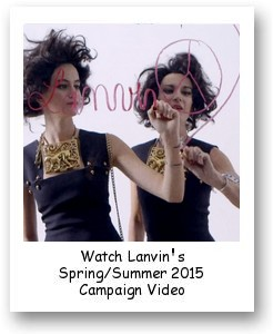 Lanvin's Spring/Summer 2015 Campaign Video