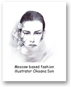 Moscow based fashion illustrator Oksana Son