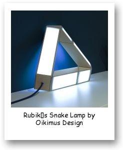 Rubik's Snake Lamp by Oikimus Design