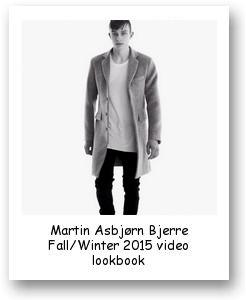 Martin Asbjørn Bjerre Fall/Winter 2015 video lookbook