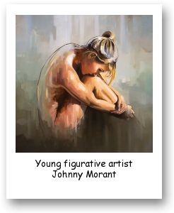 Young figurative artist Johnny Morant
