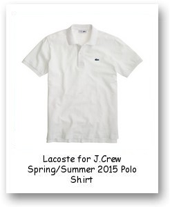 Lacoste for J.Crew Spring/Summer 2015 Polo Shirt