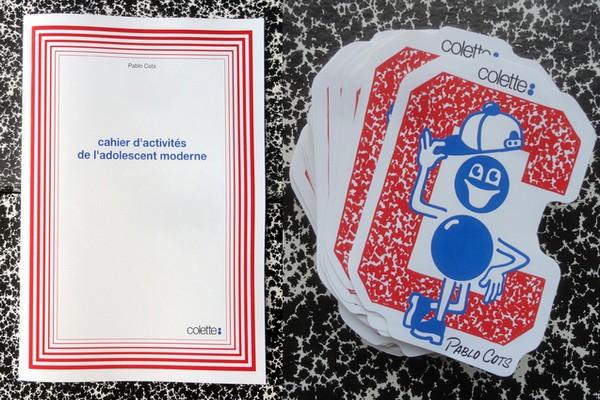 pablo-cots-x-colette-cahier-dactivites-de-ladolescent-moderne-01