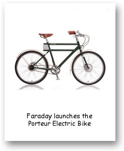 Faraday launches the Porteur Electric Bike