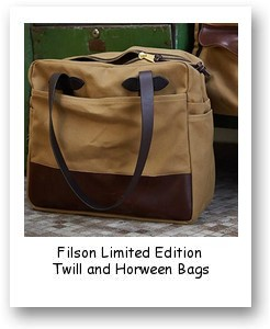 Filson Limited Edition Twill and Horween Bags