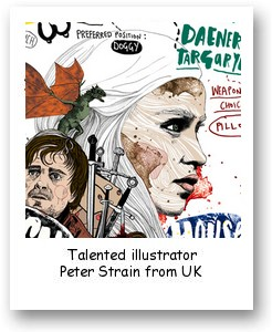 Talented illustrator Peter Strain from UK
