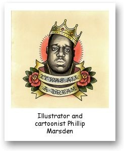 Illustrator and cartoonist Phillip Marsden