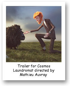 Trailer for Cosmos Laundromat directed by Mathieu Auvray