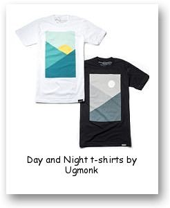 Day and Night t-shirts by Ugmonk