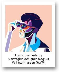 Iconic portraits by Norwegian designer Magnus Voll Mathiassen (MVM)