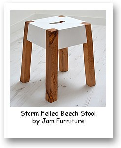 Storm Felled Beech Stool by Jam Furniture