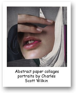 Abstract paper collages portraits by Charles Scott Wilkin