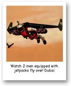 2 Men Equipped With Jetpacks Fly Over Dubai