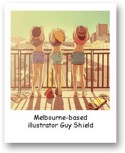 Melbourne-based illustrator Guy Shield