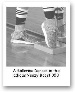 A Ballerina Dances in the adidas Yeezy Boost 350