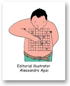 Editorial illustrator Alessandro Apai