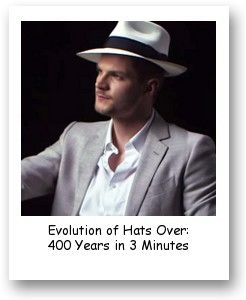 Evolution of Hats Over: 400 Years in 3 Minutes