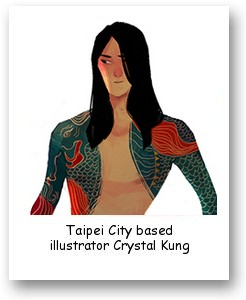 Taipei City based illustrator Crystal Kung
