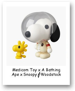 Medicom Toy x A Bathing Ape x Snoopy & Woodstock