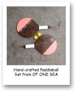 Hand-crafted Paddleball Set from OF ONE SEA