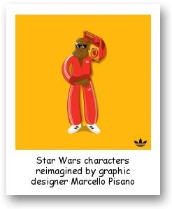 Star Wars characters reimagined by graphic designer Marcello Pisano