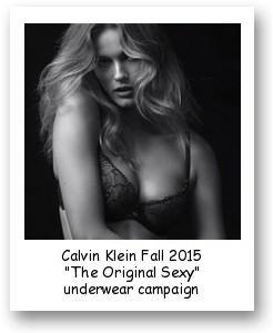 "Calvin Klein Fall 2015 ""The Original Sexy"" underwear campaign"