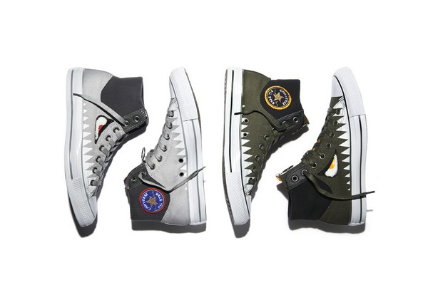 """Converse has just announced the launch of the new Converse Chuck Taylor All Star MA 1 Zip """"Shark"""" Pack for Summer 2015. The Converse Chuck Taylor All Star"""