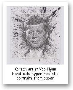 Korean artist Yoo Hyun hand-cuts hyper-realistic portraits from paper