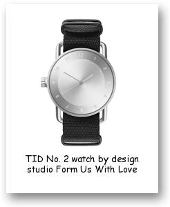 TID No. 2 watch by design studio Form Us With Love